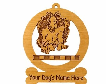 083938 Sheltie Jumping Dog Ornament - Free Shipping