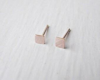 Square Stud Earrings 14k Rose Gold Fill