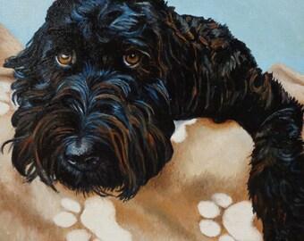 "Custom Pet Portrait Oil Painting 8"" x 8"""