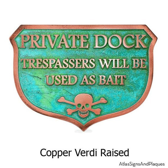 Private Dock Pier Boathouse Funny but Real No Trespassing Marina Sign 10x7 inches