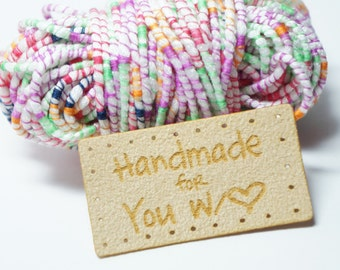 handmade with love for you labels with holes for easy attaching