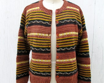 1980s Benetton Striped Cardigan // Made in Italy