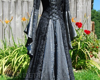 Medieval Dress Wedding gown Handfasting Available in sizes S to XXL Custom made for you.