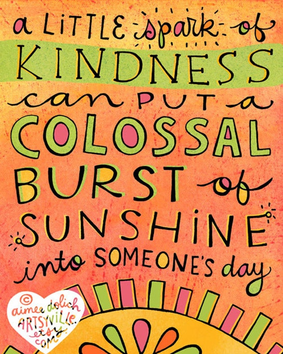 Little Spark of Kindness (8x10 doodle print)