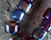 Gorgeous Lampwork beads of Silvered Glass Hemp friendly...