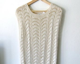 Pretty, Slouchy Knit 80's Sweater