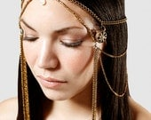 Wheel brass hair chain, headdress, perfect for performances or fetstivals
