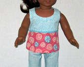 American Girl 18 Inch Doll Clothes  Capri Set Handmade Spring Summer  Doll Clothes