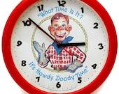 Howdy Doody Time wall clock