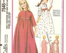 Vintage Sewing Pattern 1960's Childs size 6 Nightgown Robe Matching Barbie Doll costume McCalls 7545