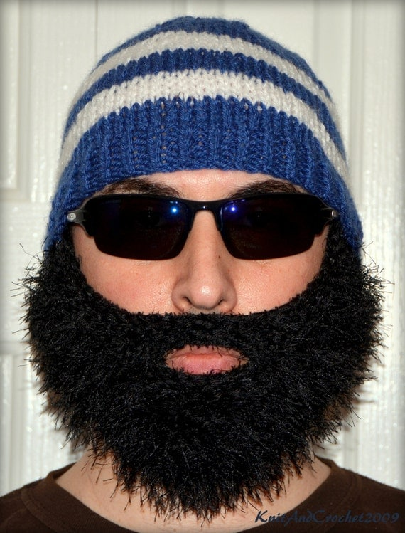 Beard Beanie, Knitted Beard Hat, Adult Size Beard, All Colors, Bearded Beanie, Bearded Hat, Bearded Cap