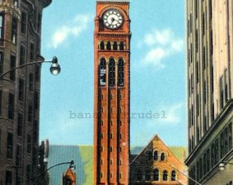 1930s Postcard. City Hall as seen from Bay Street. Toronto, Ontario