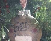 Primitive Sheep Faith Ornie Ornament Keepsake Shatterproof