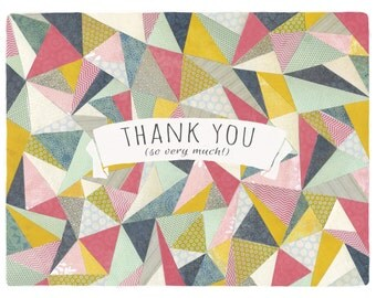 Thank You (so very much!) - Thank you card with envelope