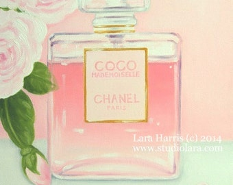C is for CHANEL . . . . .5x7 Fine Art Giclee Print by LARA Still Life Fashion Illustration (2nd Edition)
