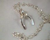 On hold for Kelly  Sterling Silver Horse Shoe Necklace - Country Style