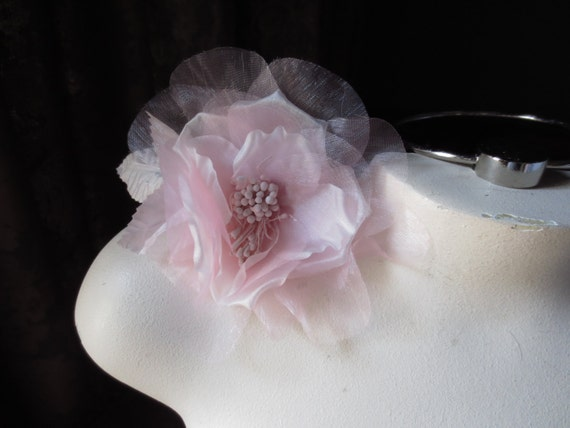 Silk Millinery Flower Rose in Pretty Pink for Hat Design, Corsages, Altered Couture or Costume Design