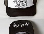 ON SALE NOW!!! Roller Derby Love / Skate or Die/ Trucker Hat