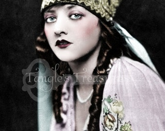 """Vintage Photograph """"Camille"""" Digital Image - Commercial Use"""