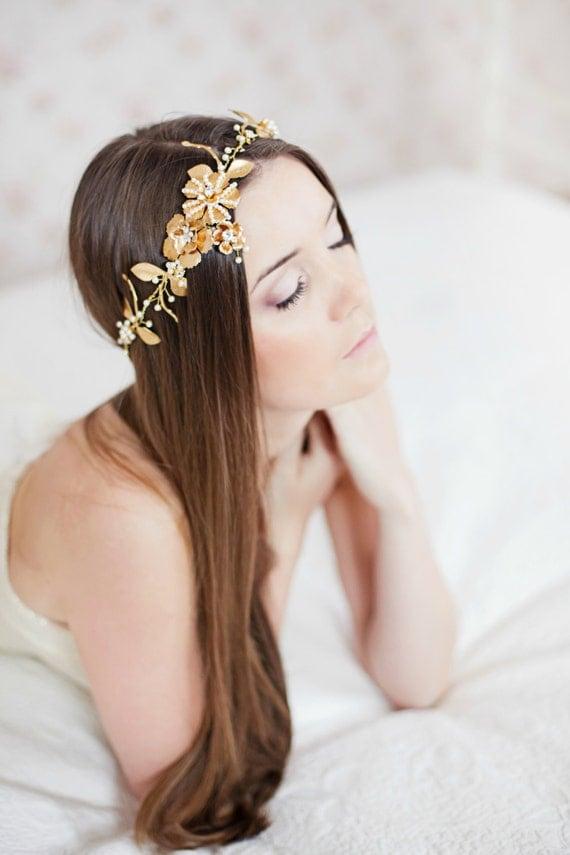bridal headband ribbon headband wedding hair accessories crystal