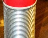 Thermos Silver Body Red Cup 8.25 inches 10 Ounce Vintage Vacuum Bottle Save Money Bring Coffee from Home CrabbyCats Crabby Cats
