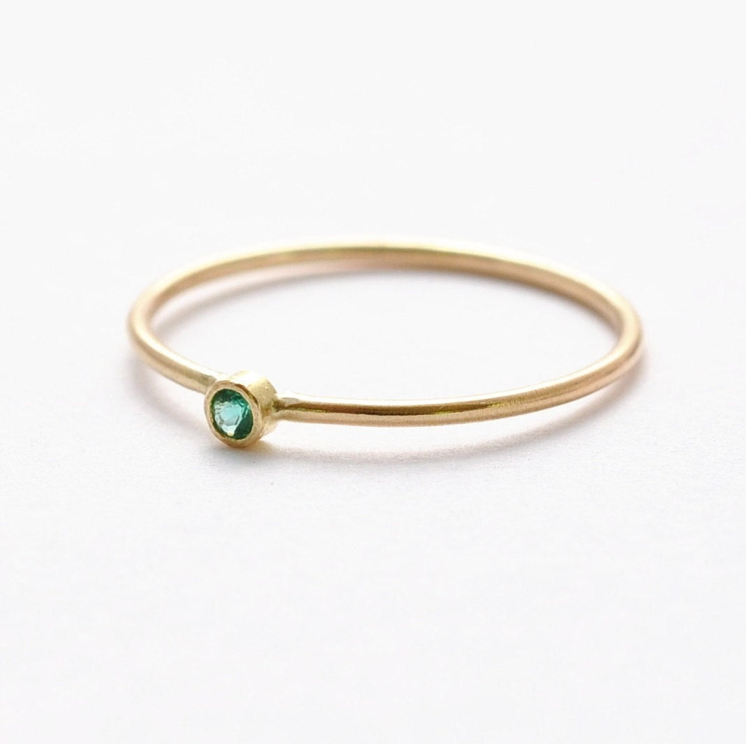 Emerald Engagement Rings Simple & Dainty