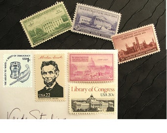 Washington .. D.C.  .. UNused Vintage Postage Stamps  .. post 36 letters