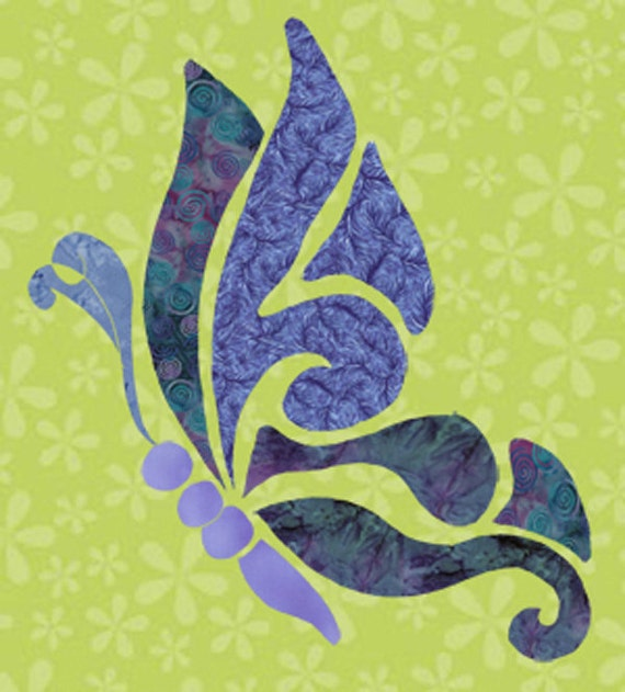 items similar to freestyle butterfly fabric applique