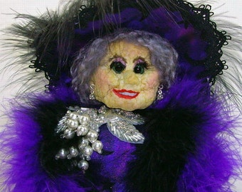 "Apple Head Witch Doll CD PATTERN 13-14"" Serena By Caroline Erbsland"