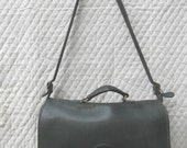 Pre 1994  COACH Beekman Briefcase in Bottle Green Leather  - VINTAGE