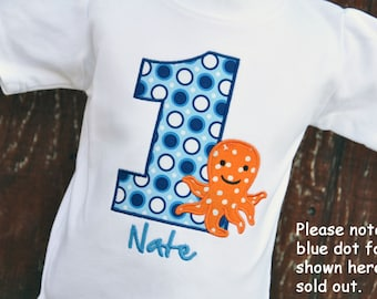 Personalized Octopus Birthday Shirt