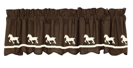 Belgian Draft Horse Window Valance Curtain Your Choice Of