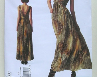 Anne Klein Evening Dress - Vogue 1354 - Designer Sewing Pattern, Sizes 6, 8, 10, 12, and 14