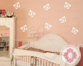 Butterfly Wall Decals for Baby Nursery Bedroom Playroom - 5H x 5W inches each - NW0050