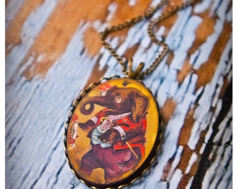the crafty creatures of the carnival fabulon - a rather lovely necklace featuring a dapper wooden circus performer pendant - 5 options