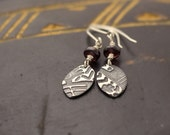 Tribal Earrings with Garnet