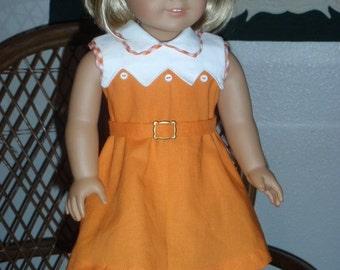 "1930s Kit's Orange Dress From the Book ""Meet Kit"""