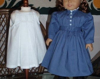 1870s  Anne of Green Gables School Dress and Pinafore for American Girl Kirsten 18 inch doll