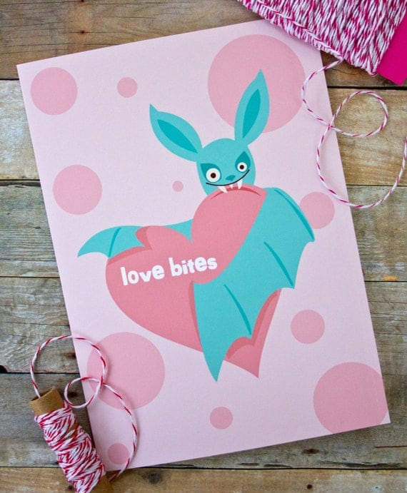 Love Bites Bat Anti-Valentine Card