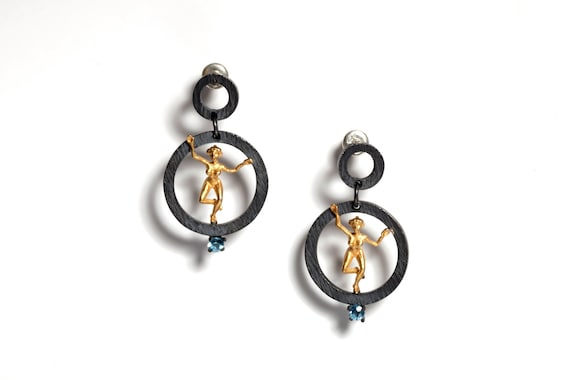 Lady Earrings (Comes with Climbing Man Pin Gift )