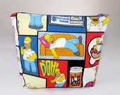 POUCH- Homer Simpsons ***Handmade***Made to Order***
