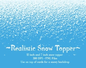 Snow Clipart, Snow Topper clipart, Realistic Snow Clipart