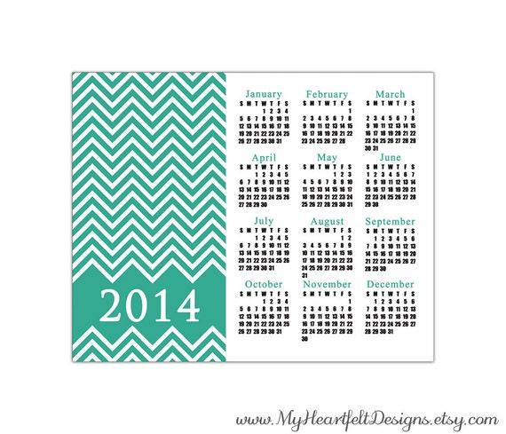 2014 Chevron Calendar