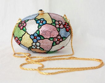 Formal Evening Bag - Egg Box - Stained Glass Swarovski Crystal - Kathrine Baumann Limited Edition - Signed
