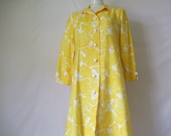 William Pearson Yellow Coat Dress
