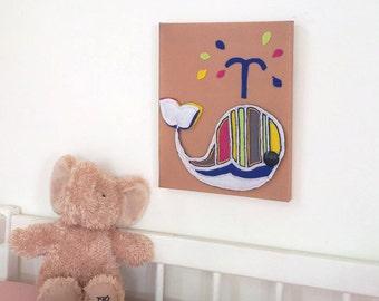 """Children art room decor, Kids art canvas, Children nursery wall art, Canvas 10 x 8"""""""