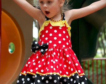 Minnie Mouse Inspired Polka Dot Vacation Costume Dress Sassy Custom