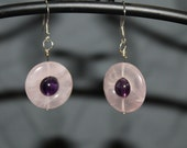 Rose Quartz and Amethyst Earrings