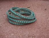 Turquoiseand Leather Wrap Bracelet