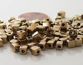 Bronze, Cube Miyuki Shoji Beads 10-Grams 4mm Glass Squares